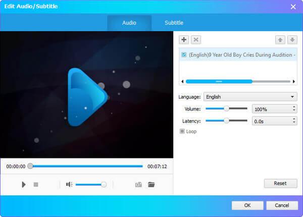 Modifier le sous-titre audio