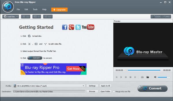 Lancer gratuitement Blu-ray Ripper
