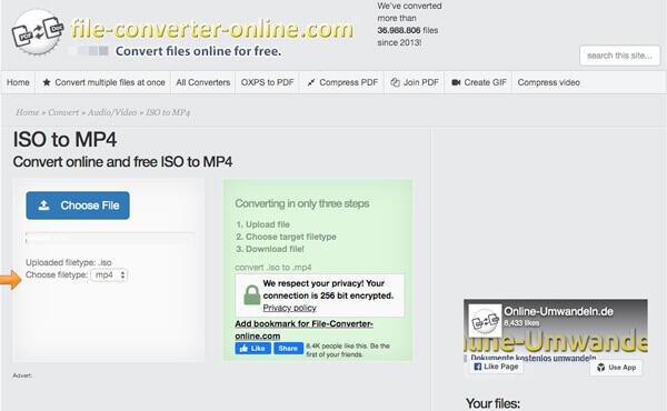 Конвертировать Blu-ray ISO в MP4 файл онлайн