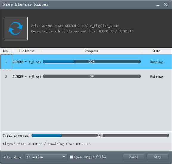 Conversion de Blu-ray en M4V