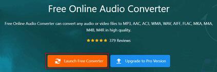 Запустите бесплатный аудио конвертер