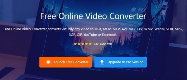 Запустите бесплатный онлайн-конвертер видео