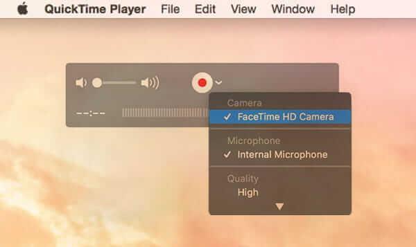 Enregistreur d'écran gratuit pour Mac Quicktime
