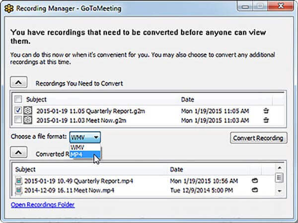 Gotomeeting Recording Manager