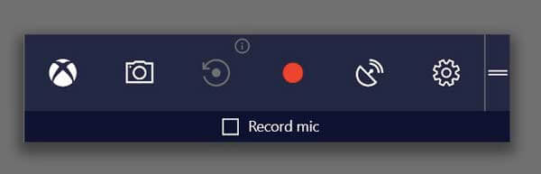 Capture d'écran avec la barre de jeu Windows 10