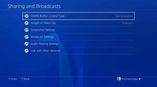 Запись игры на PS4