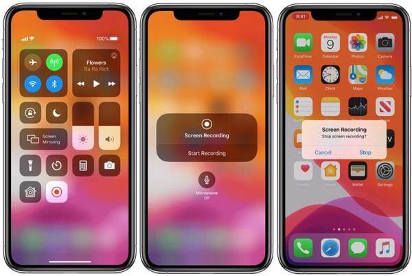 Запись экрана на iPhone 10