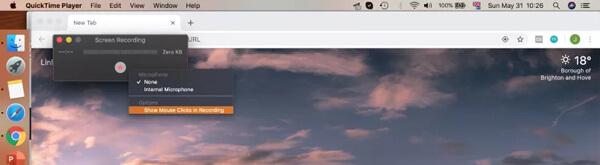 Enregistrement d'écran sur Mac avec Quicktime