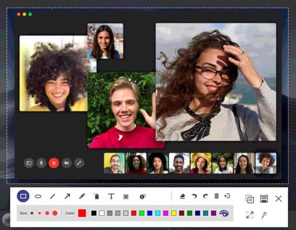 Сделайте снимок экрана Facetime на Mac