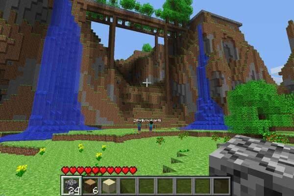 Capture d'écran sur Minecraft