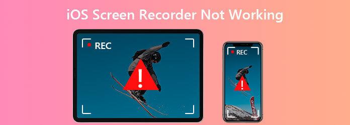 Программа записи экрана iOS не работает