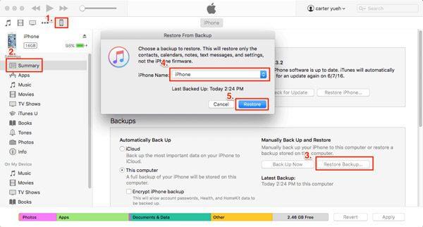 Itunes Восстановить Iphone из резервной копии