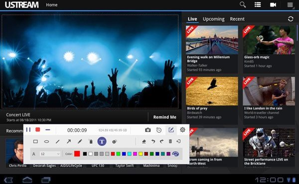 Запись Ustream Видео