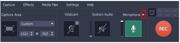Выберите устройство из микрофона