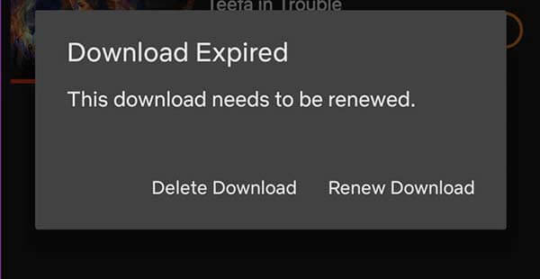 Netflix Download Expire
