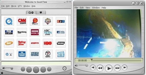 Capture d'écran QuickTime