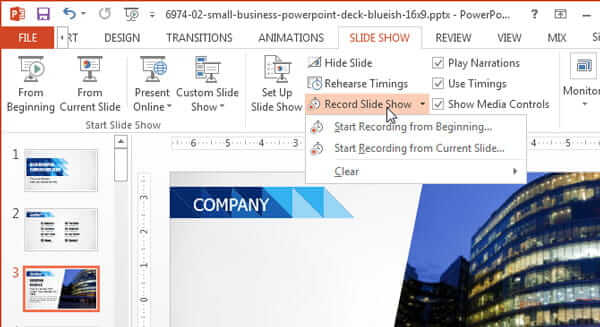 Record A Powerpoint Presention Via Slide Show