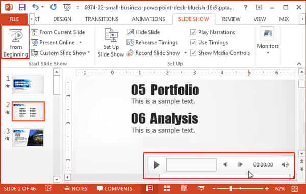 View Powerpoint Recording