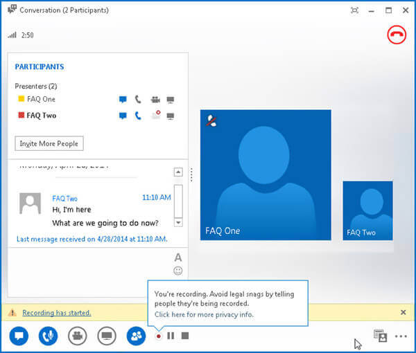 Lync Meeting Recording Prompt