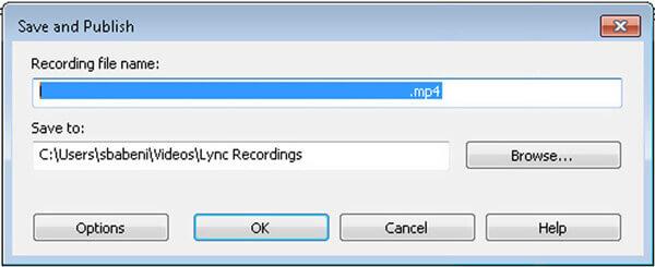 Enregistrer l'enregistrement de la réunion Lync