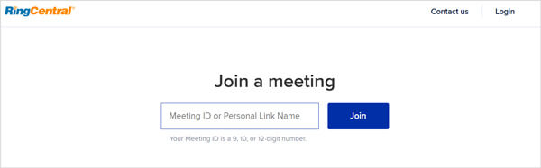 Join ringcentral meeting manually