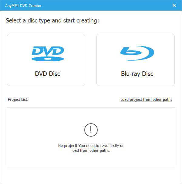 Select DVD disc