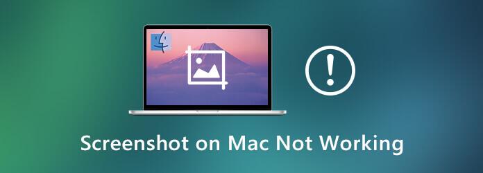 La capture d'écran sur Mac ne fonctionne pas