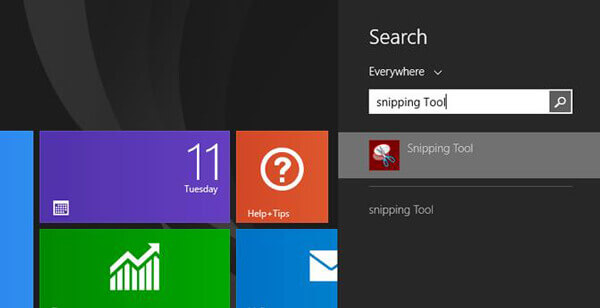 Search Snipping Tool