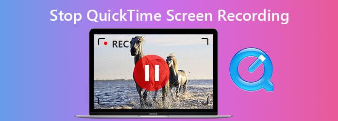 Arrêter l'enregistrement d'écran Quicktime