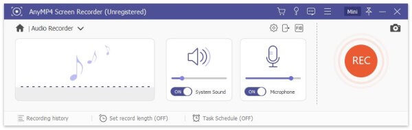 Включить системный звуковой микрофон