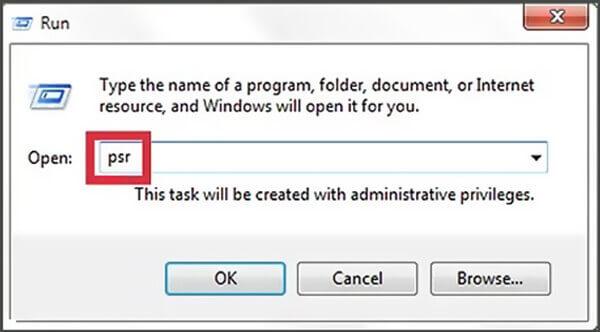 Ouvrir l'enregistreur d'étapes dans Windows 10