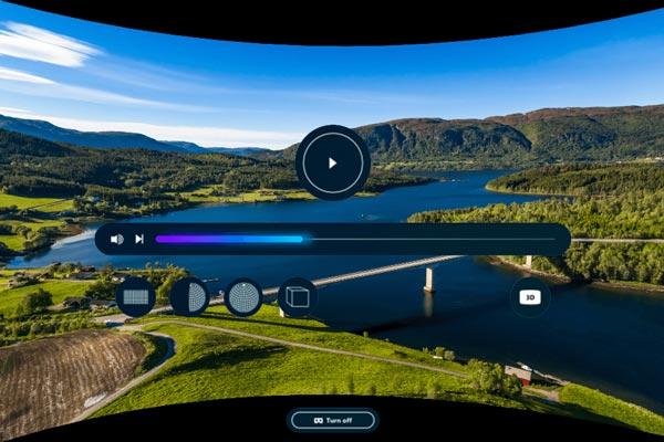 Lecteur vidéo Opera VR