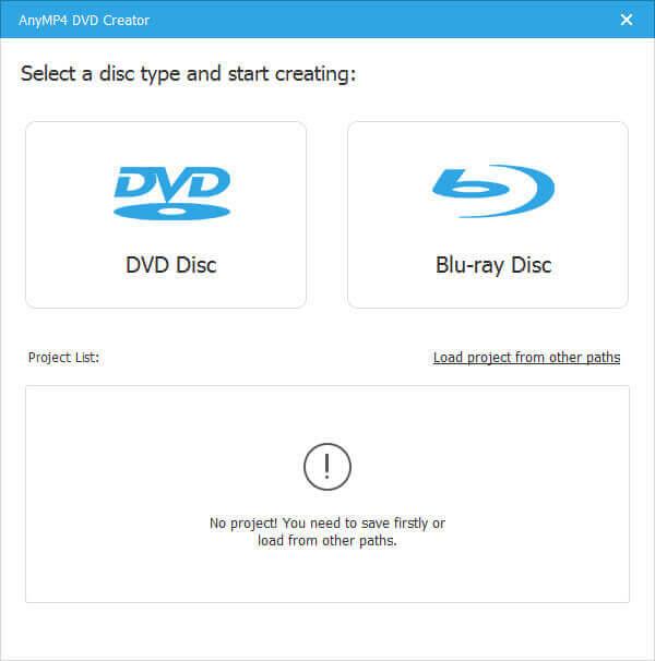 Exécuter DVD Creator