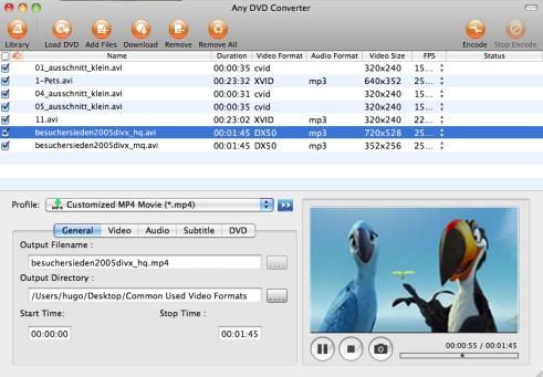 Tout DVD Converter Mac DVD en MOV