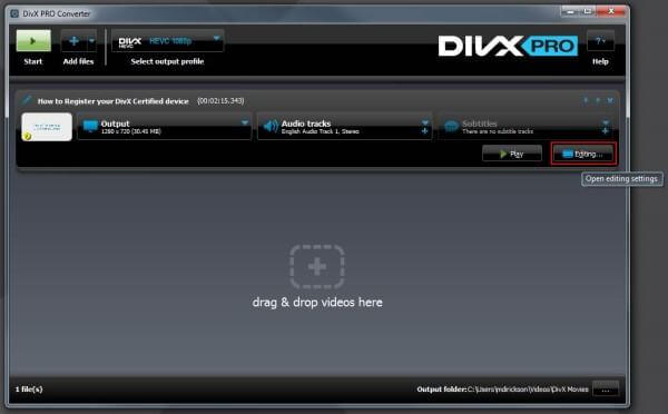 Divx Video Converter Mac DVD en MOV