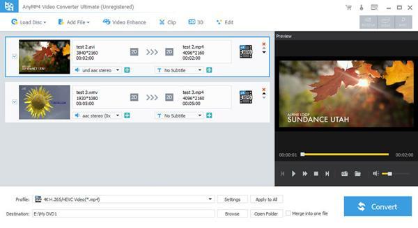 Anymp4 видео конвертер Ultimate