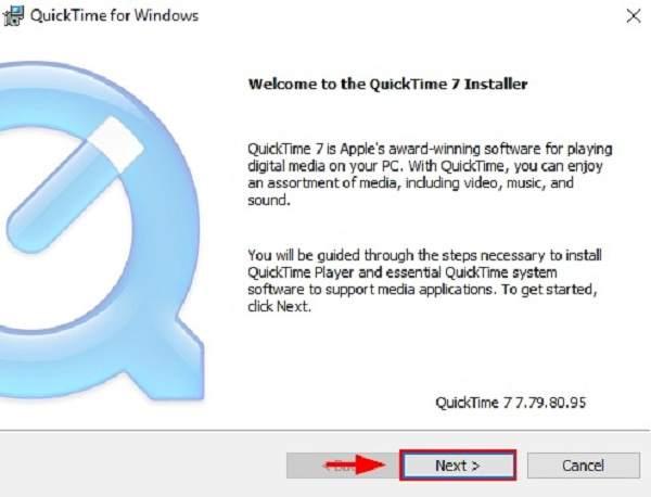 Installez QuickTime