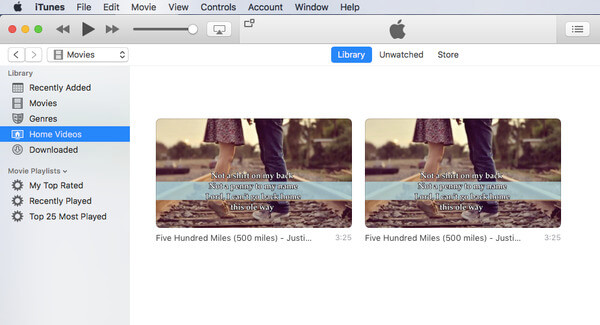Add videos to itunes