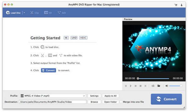 AnyMP4 DVD Ripper для Mac