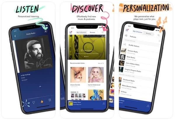 Application de lecteur de musique Pandora