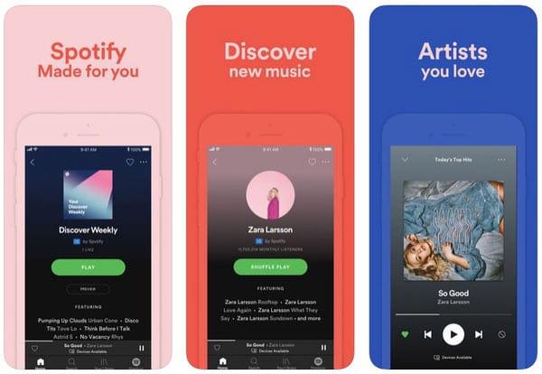 Приложение Spotify Music Player