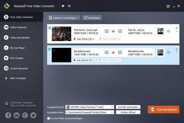 Бесплатный видео конвертер Aiseesoft