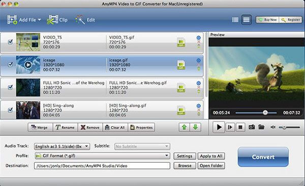 AnyMP4 Video to GIF Converter for Mac