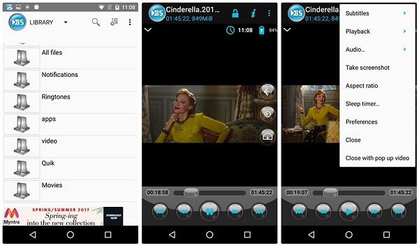 Lecteur vidéo Android BSPlayer