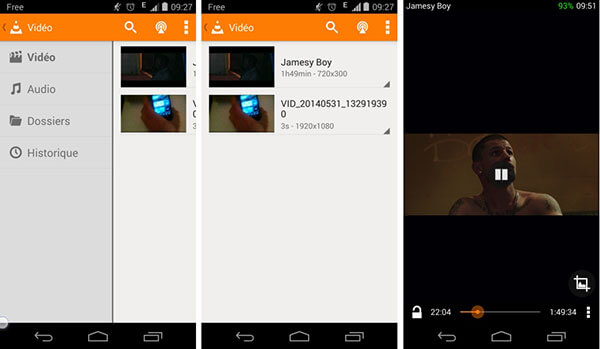 VLC pour Android WMV Player