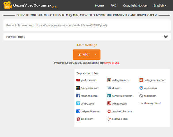 Онлайн-видео конвертер