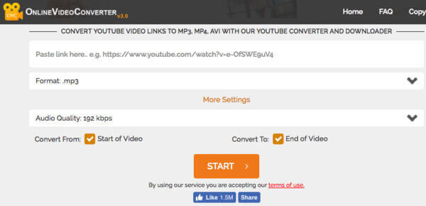 Convert youtube video links to mp3, mp4, avi with our youtube.