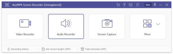 Choose Audio Recorder