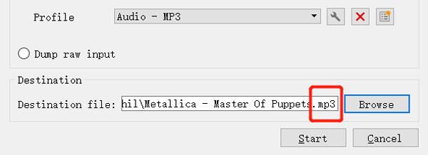 Переименовать расширение файла из MP4 в MP3