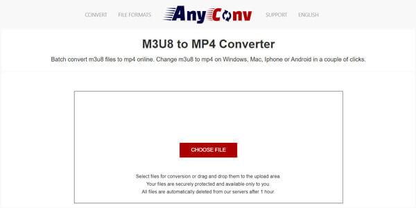 Конвертер M3U8 в MP4 AnyConv